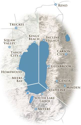 Search Properties Lake Tahoe Real Estate Pinnacle Real Estate - Map of reno and lake tahoe